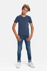 WE Fashion T-shirt Basics donkerblauw, Donkerblauw