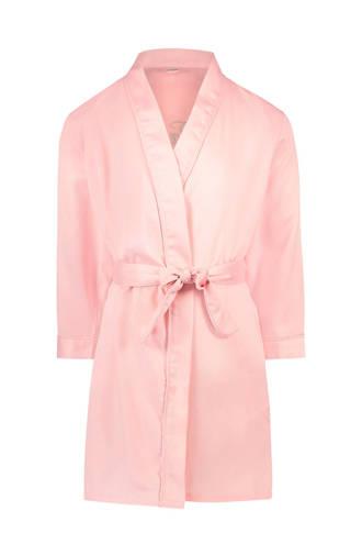 kimono met lichte glans roze