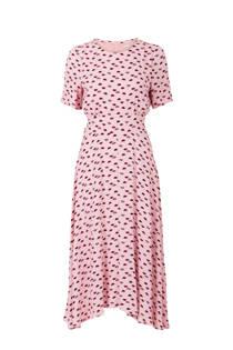 Steps jurk met allover print roze