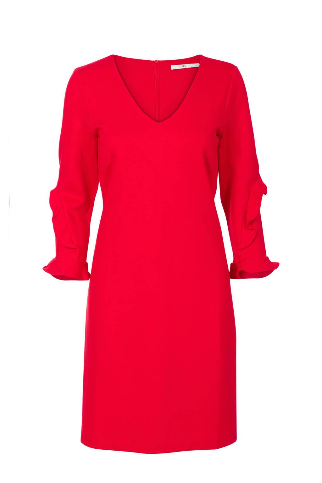 Steps jurk rood, Rood