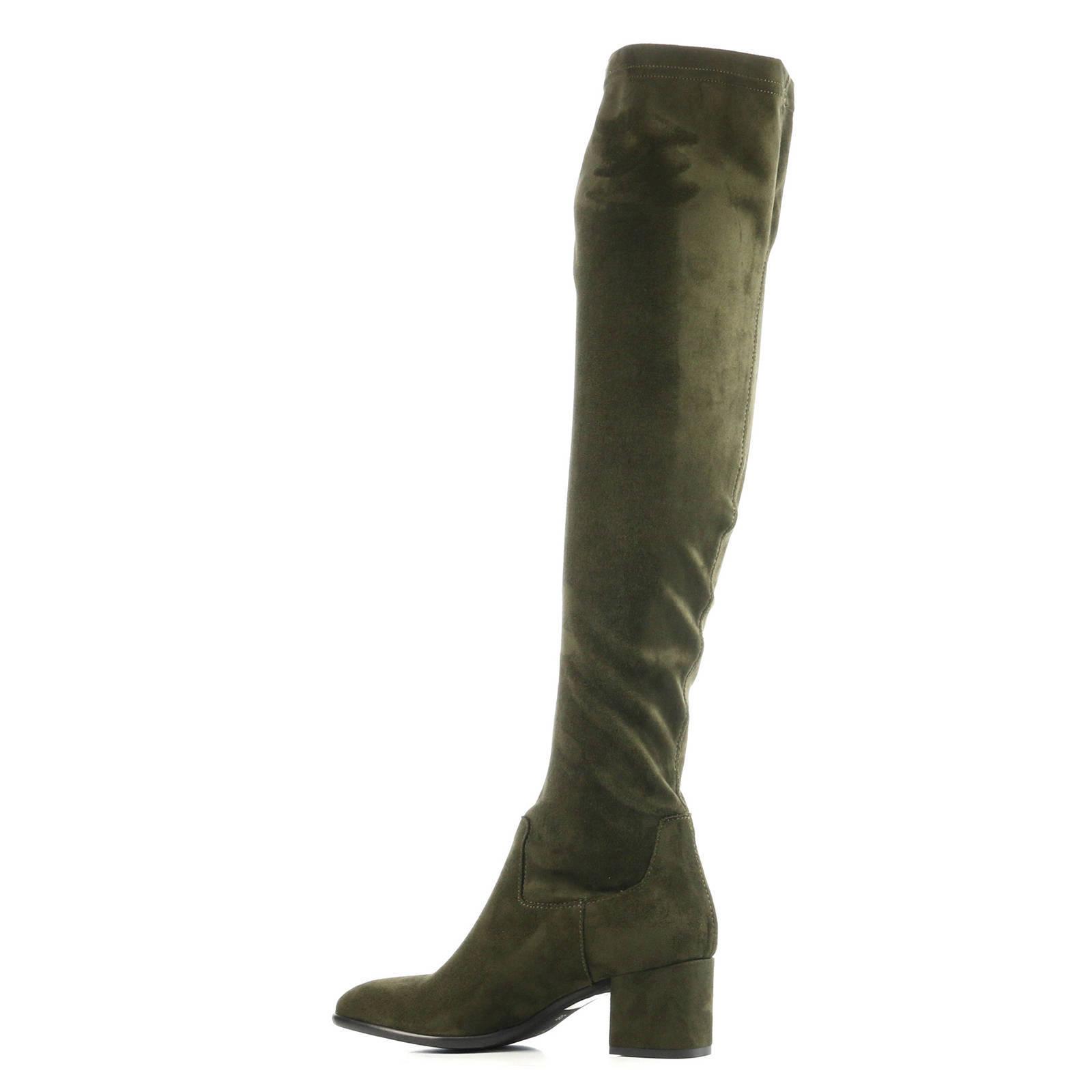 suède overknee laarzen Quilia groen