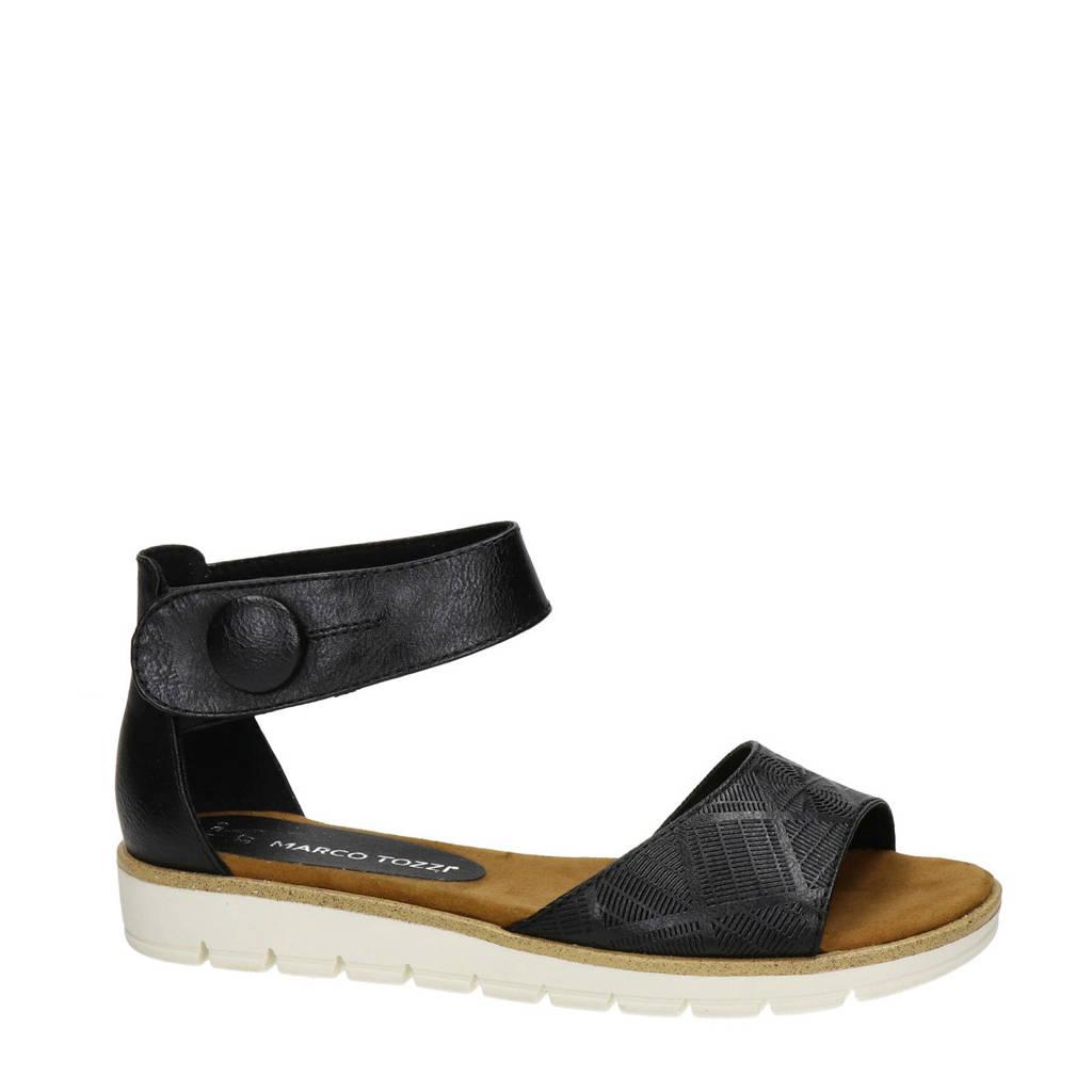 Marco Tozzi   sandalen zwart, Zwart