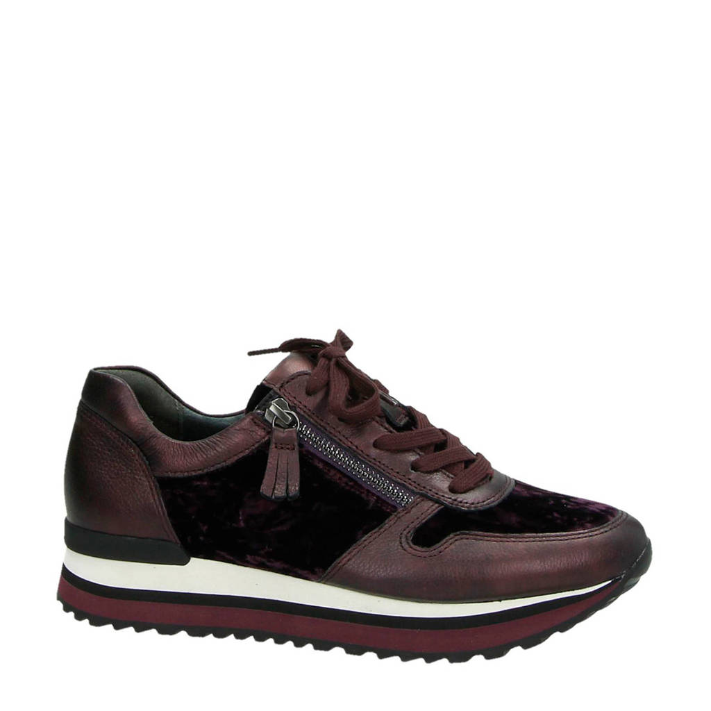 Gabor  leren sneakers rood, bordo