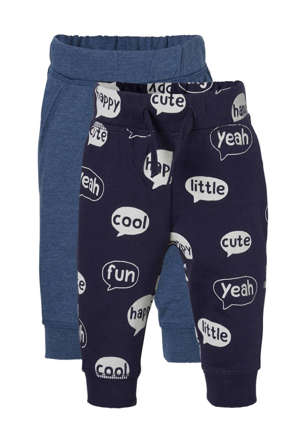 C&A Baby Club   sweatpants blauw (set van 2), Donkerblauw