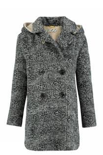 CKS KIDS coat met panterprint grijs (meisjes)