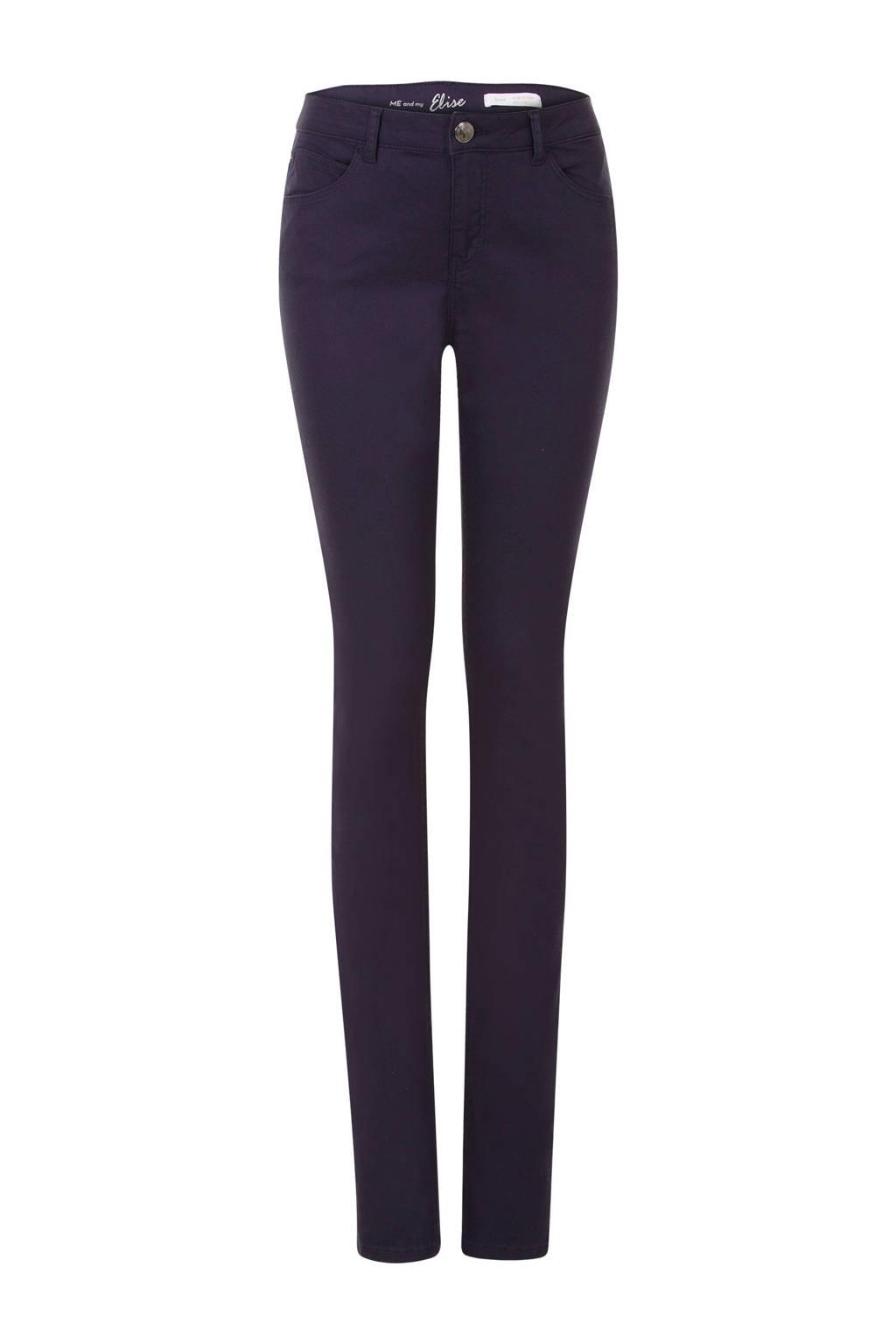 Miss Etam Lang slim fit jeans 36 inch, Donkerblauw