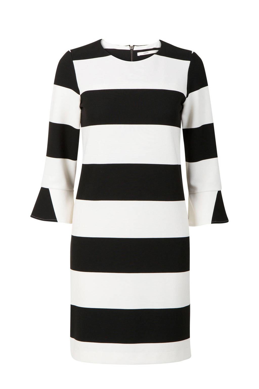 005353796bcce5 Steps gestreepte jurk zwart wit