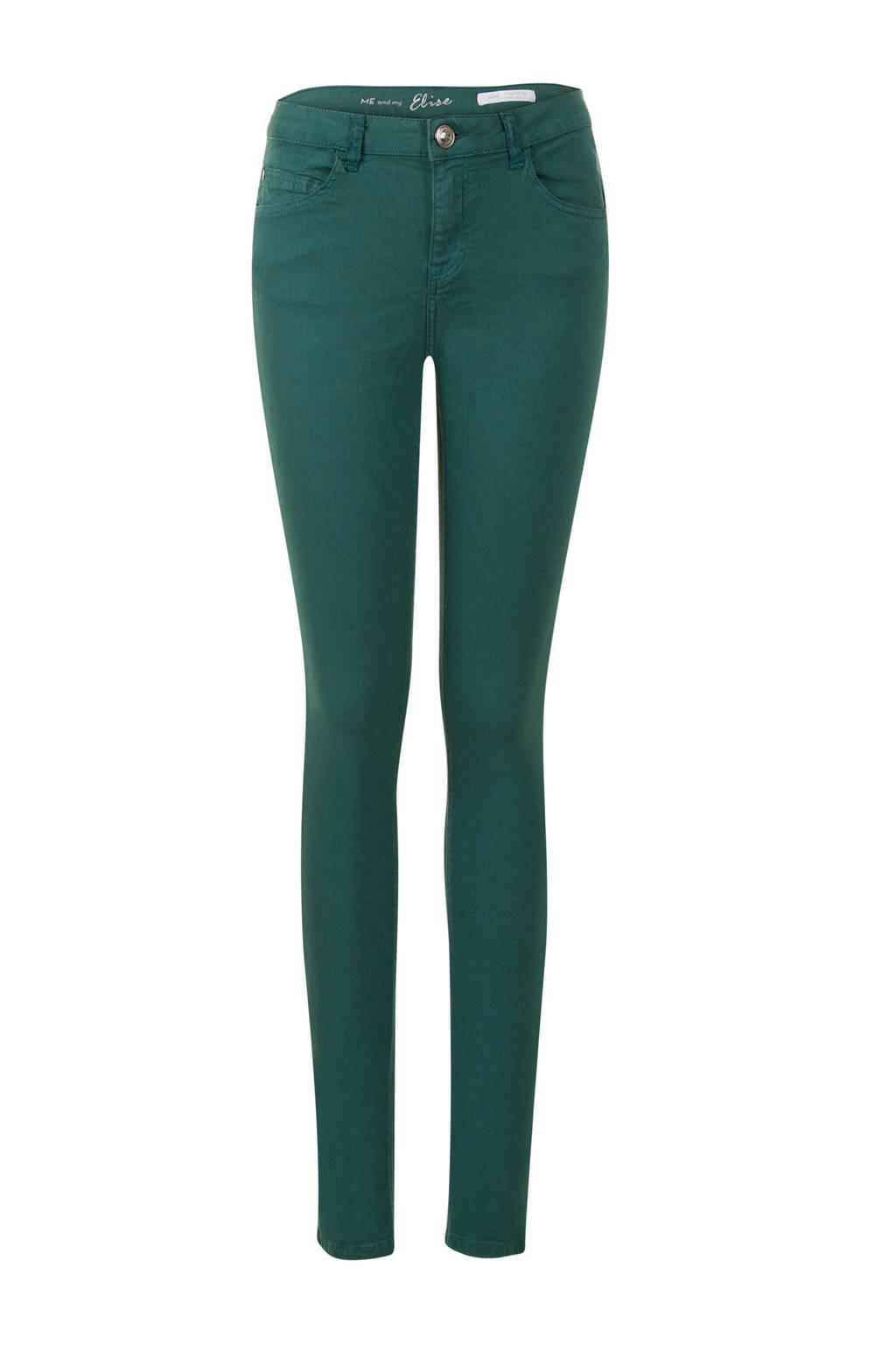 Miss Etam Lang slim fit jeans 36 inch, Groen