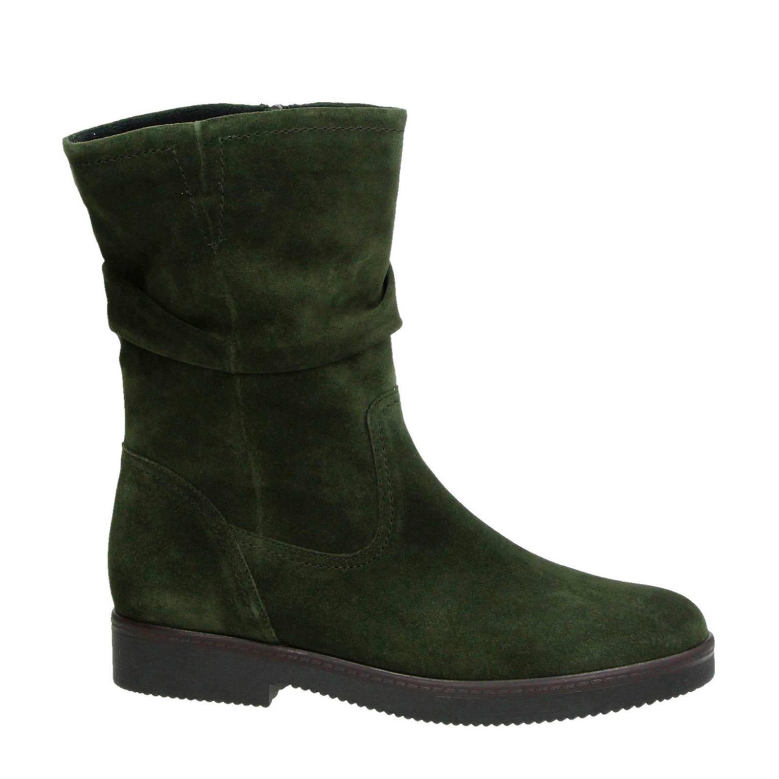 suède laarzen groen