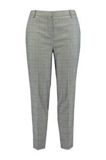 geruite pantalon grijs