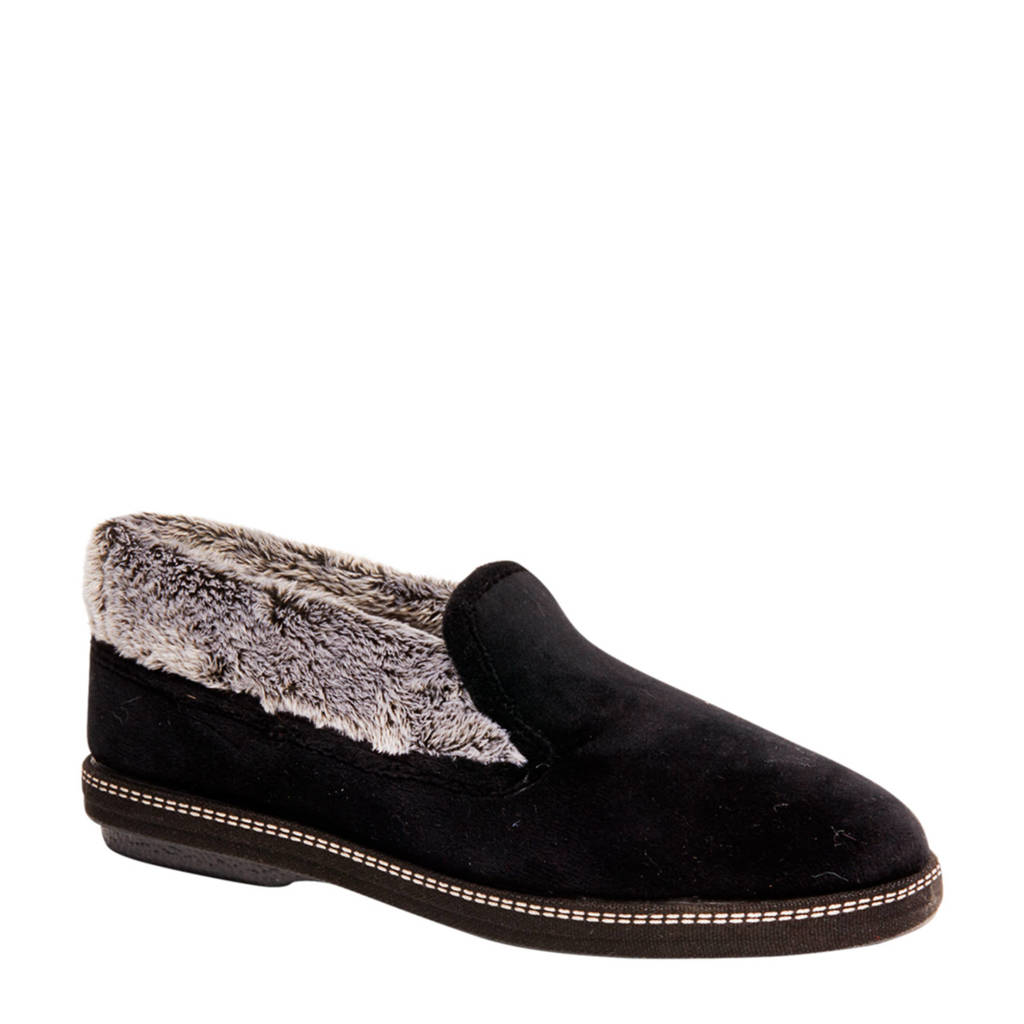 vanHaren Casa Mia pantoffels zwart, Zwart