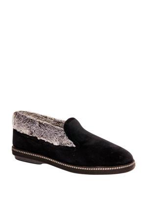 vanHaren Casa Mia pantoffels zwart