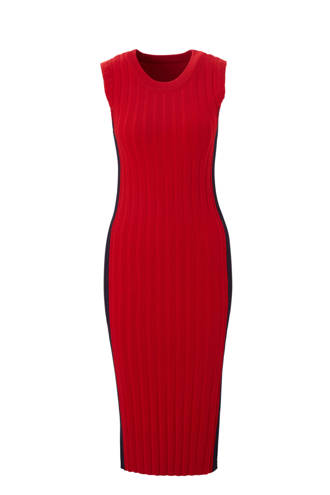 fijnbrei jurk in rib