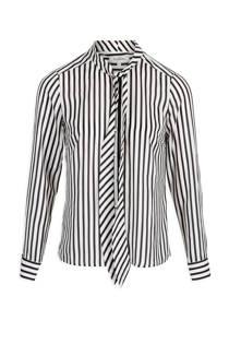 Morgan gestreepte blouse wit (dames)