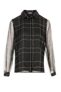 Morgan blouse met strepenprint zwart (dames)