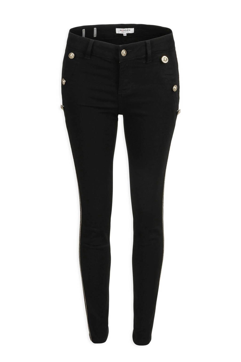 Morgan cropped skinny fit broek zwart, Zwart