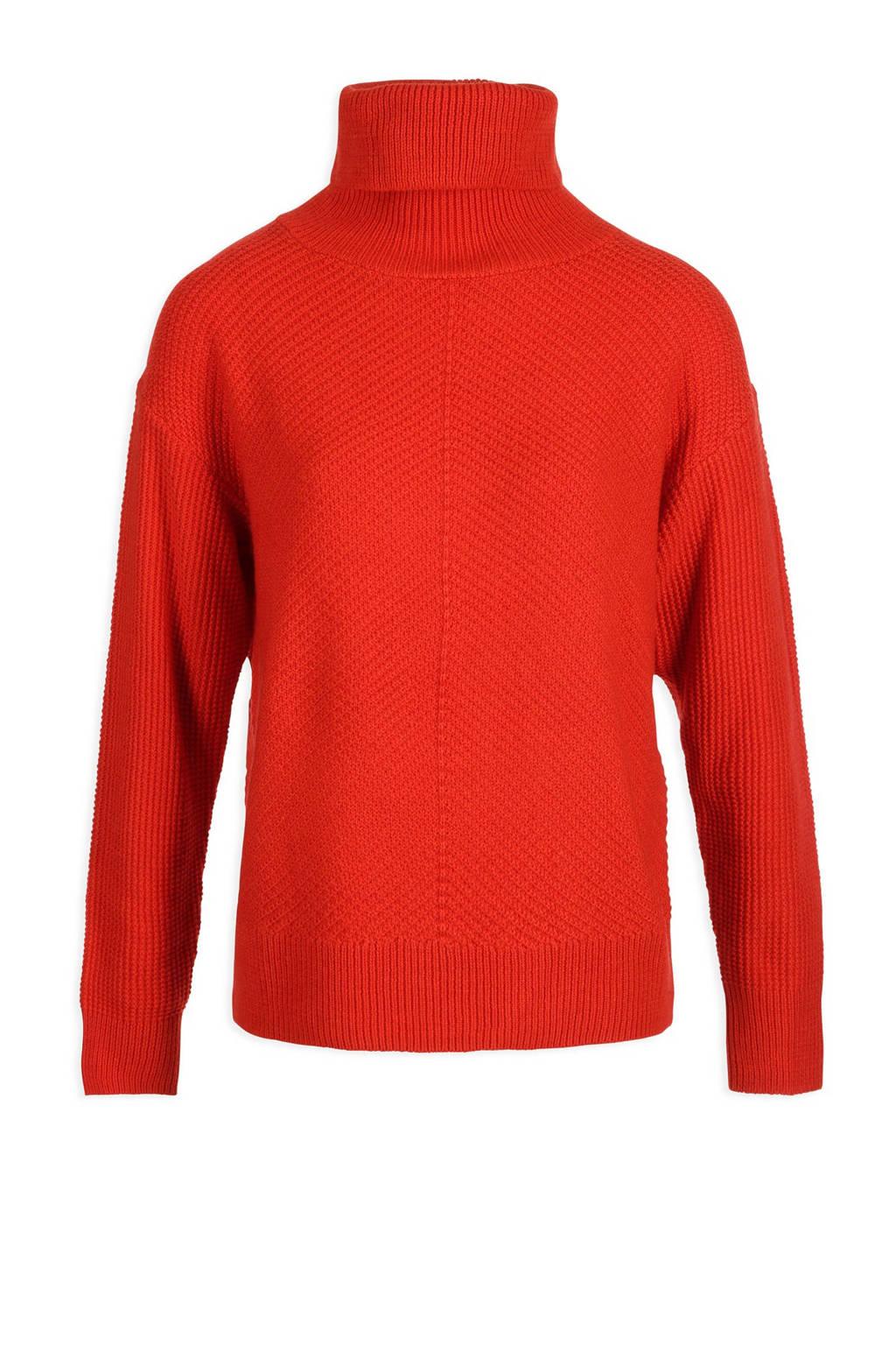 Morgan trui met wol rood, Rood