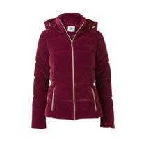 product afbeelding Miss Etam Regulier fluwelen winterjas bordeaux rood (dames)