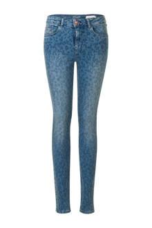 Regulier slim fit jeans met panterprint