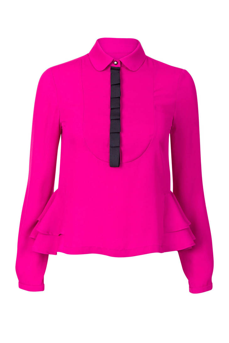 blouse Promiss Promiss ruches fuchsia met met fuchsia blouse ruches TwBWR1qw