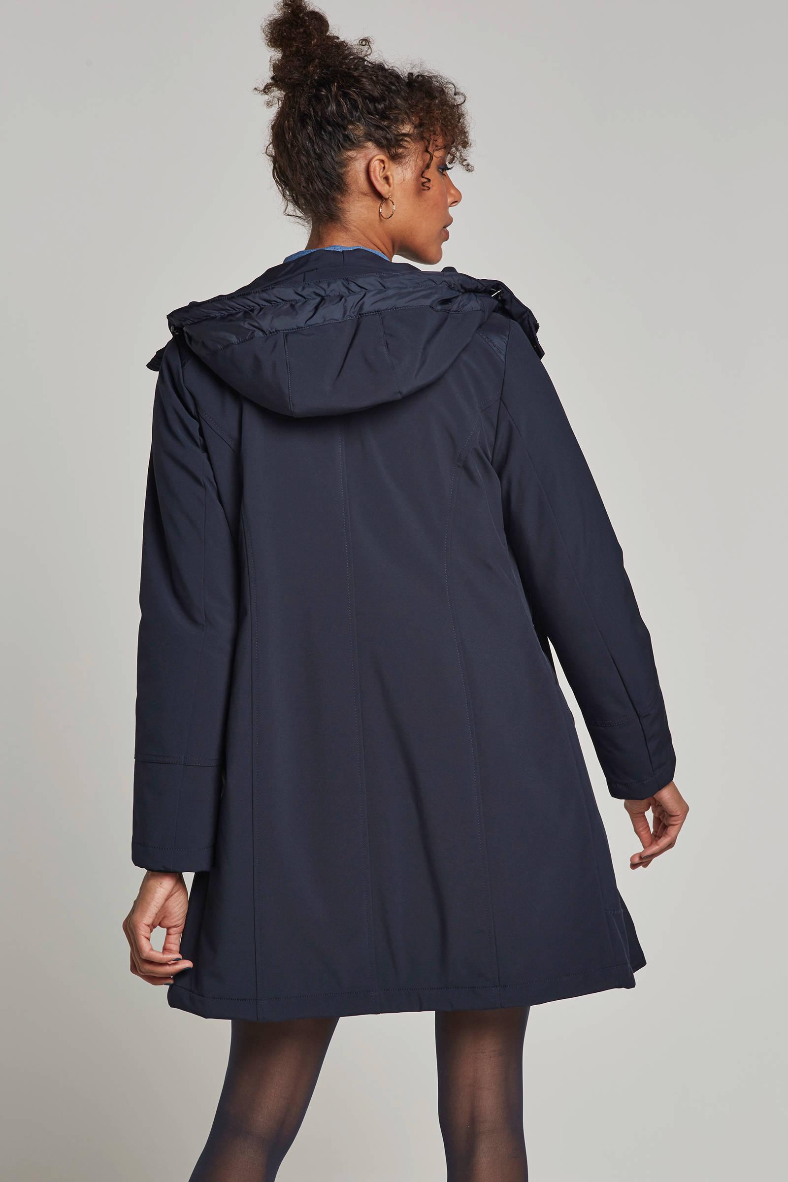 Miss Etam Regulier softshell winterjas marine | wehkamp