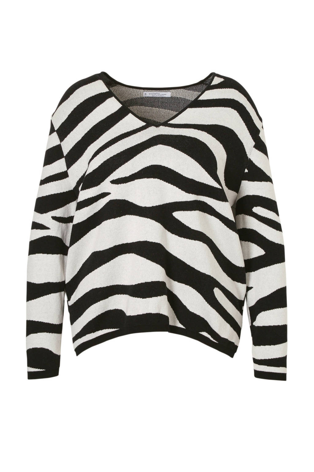 Trui Zwart Wit.Violeta By Mango Trui Met Zebraprint Zwart Wit Wehkamp