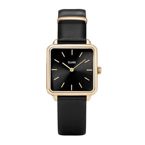 CLUSE La Tétragone goudkleurig/zwart dames horloge CL60008 kopen