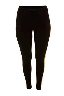 Belloya high waist legging met zijstreep Erin zwart/wit (dames)