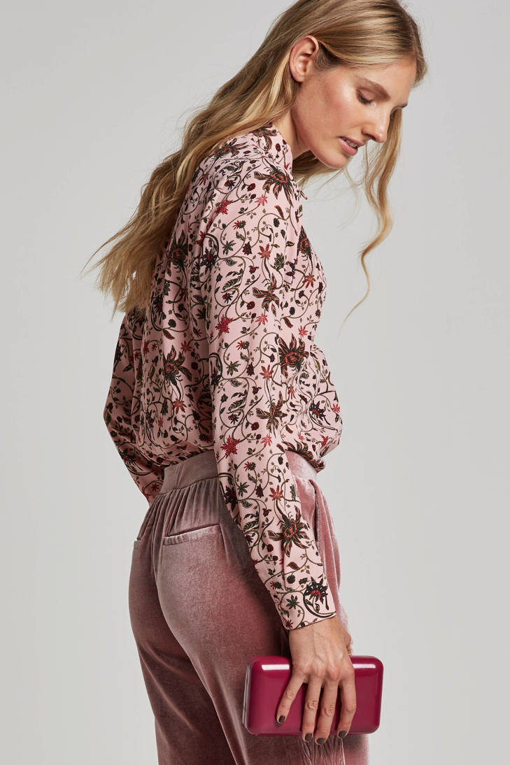 met Eksept blouse blouse met pink Eksept bloemenprint pink xqURntUYZw