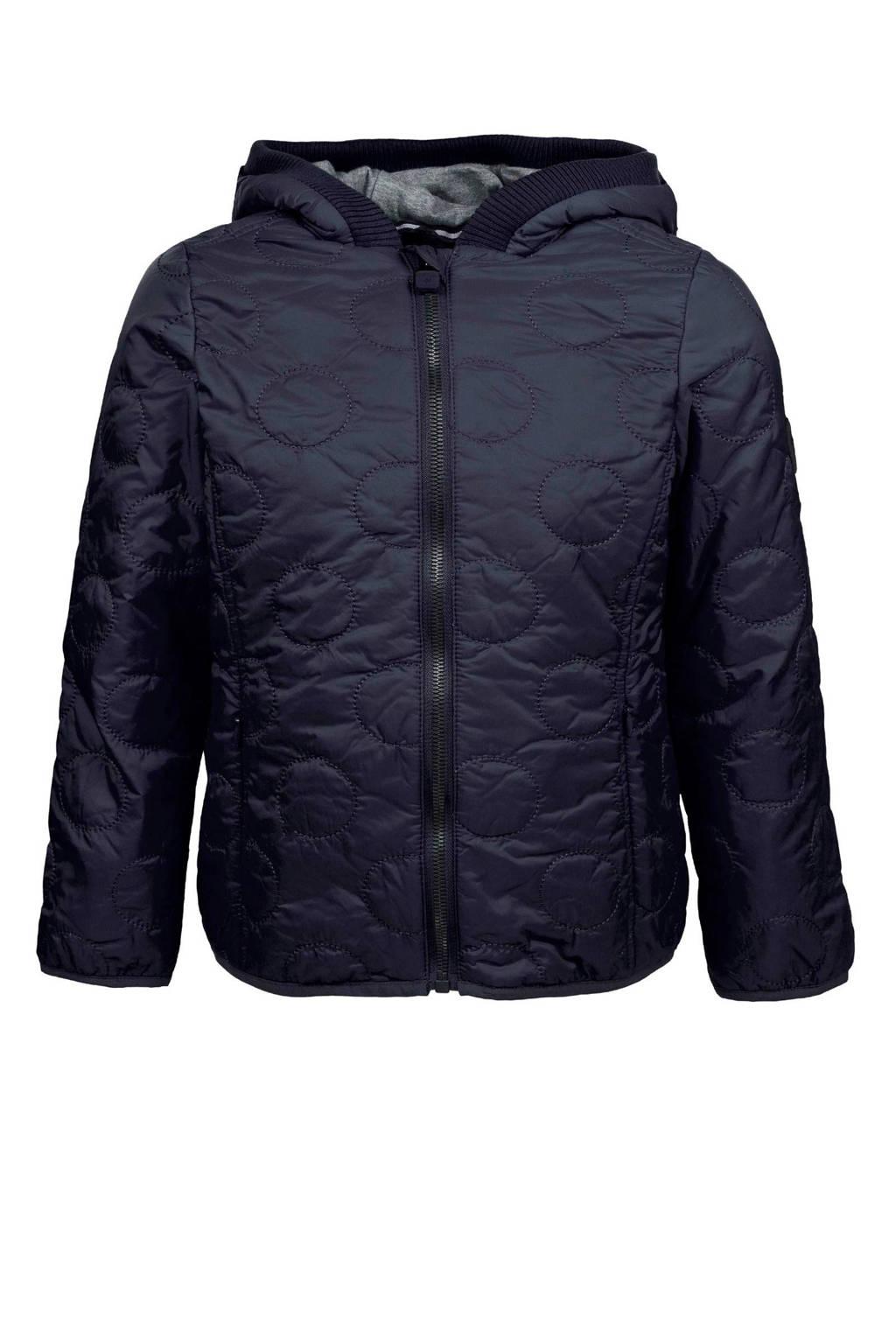 Marc O'Polo jas met gestikte rondjes blauw, Donkerblauw