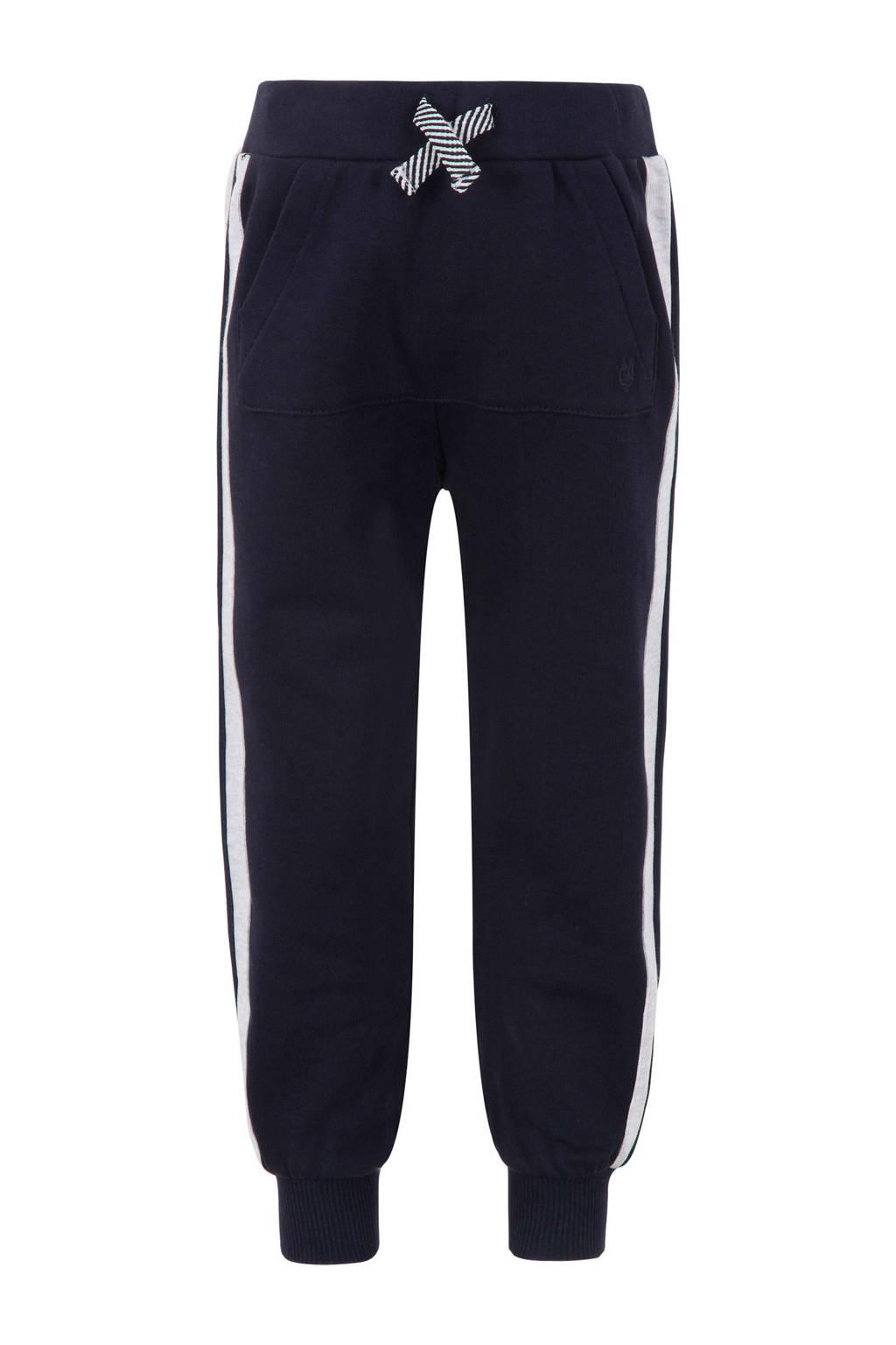 Marc O'Polo   joggingbroek met zijstreep blauw, Marine