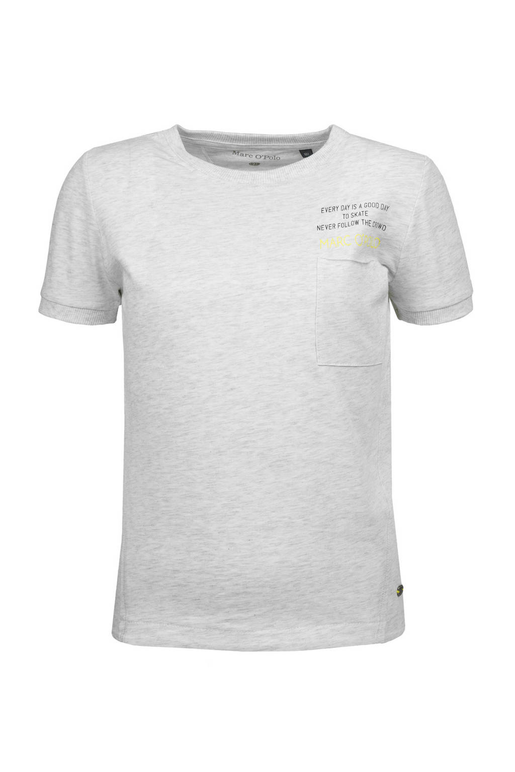 Marc O'Polo T-shirt met tekst lichtgrijs, Lichtgrijs