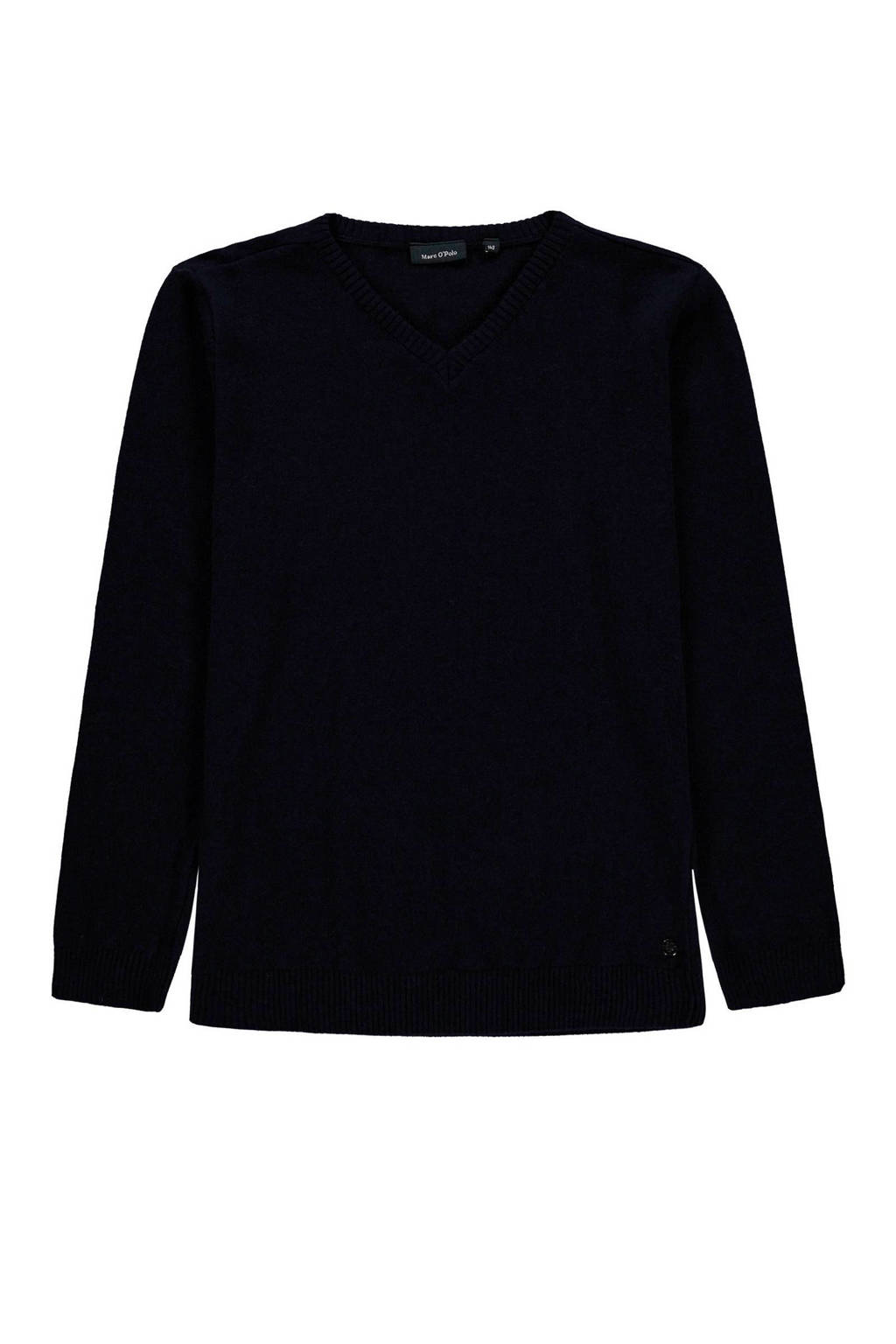Marc O'Polo sweater met wol donkerblauw, Donkerblauw