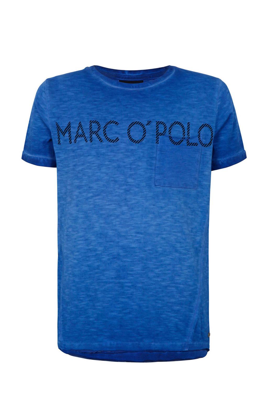 Marc O'Polo T-shirt met logo blauw, Blauw