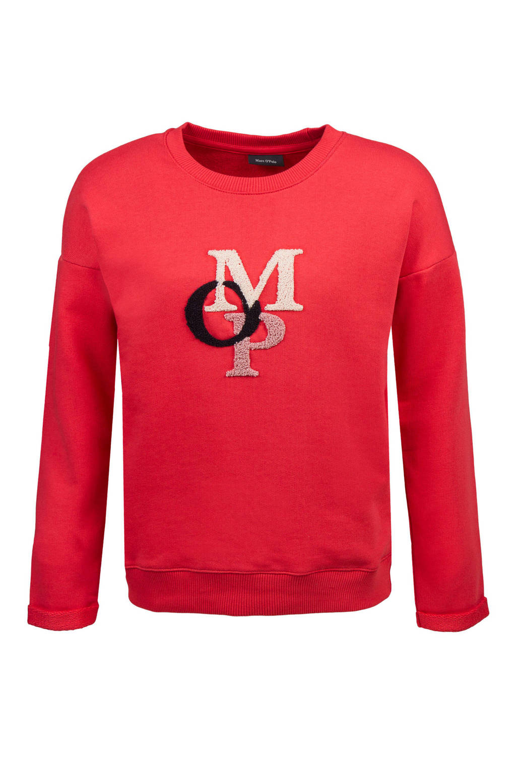 Marc O'Polo sweater met logo rood, Rood