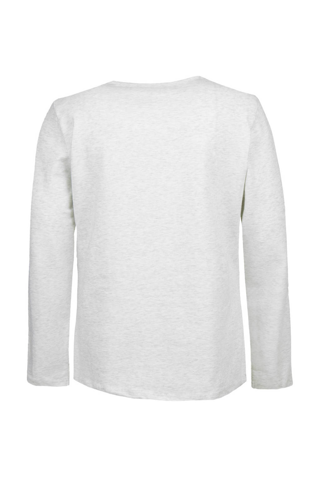 Marc O'Polo longsleeve met logo grijs, Lichtgrijs