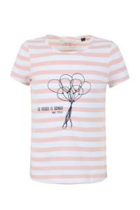 Marc O'Polo gestreept T-shirt zalm/wit, Zalm/wit