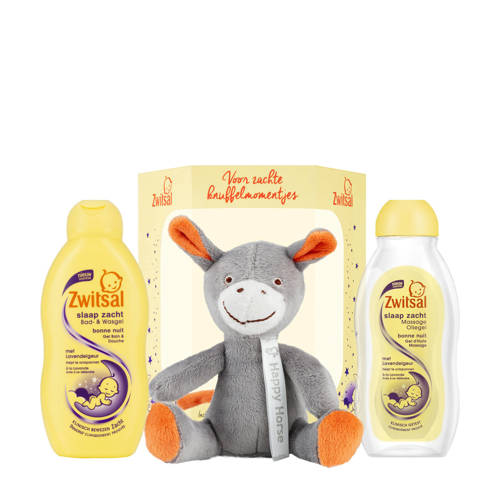 Zwitsal cadeaupakket met Happy Horse knuffel (3-delig) kopen