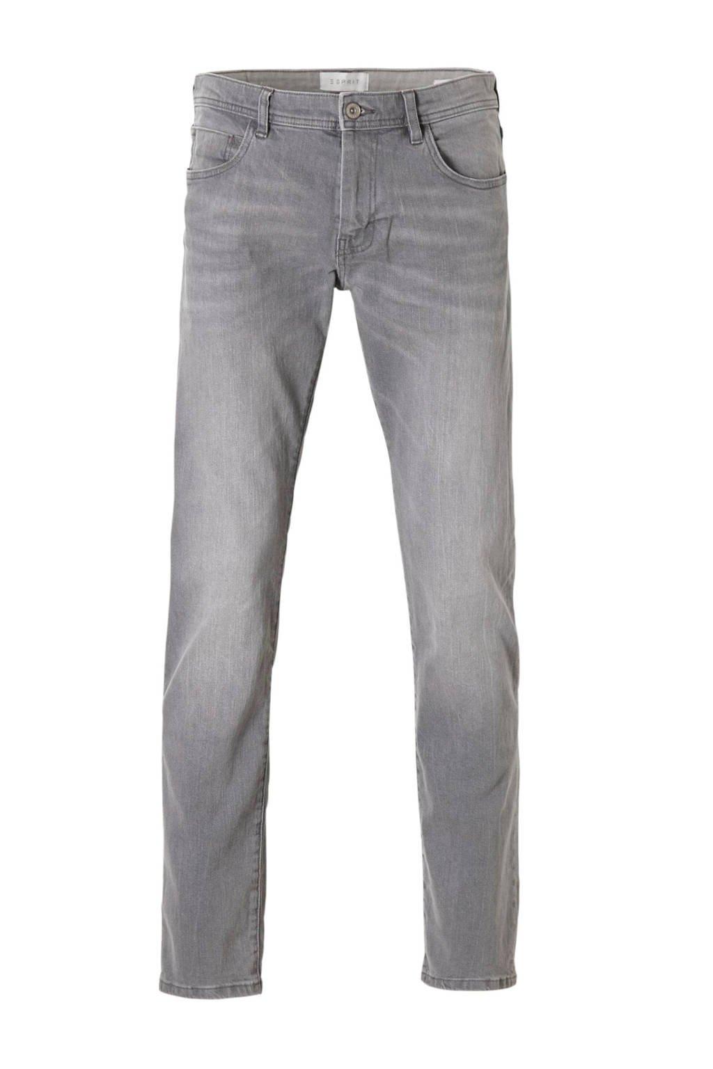 ESPRIT Men Casual straight fit jeans, Grijs