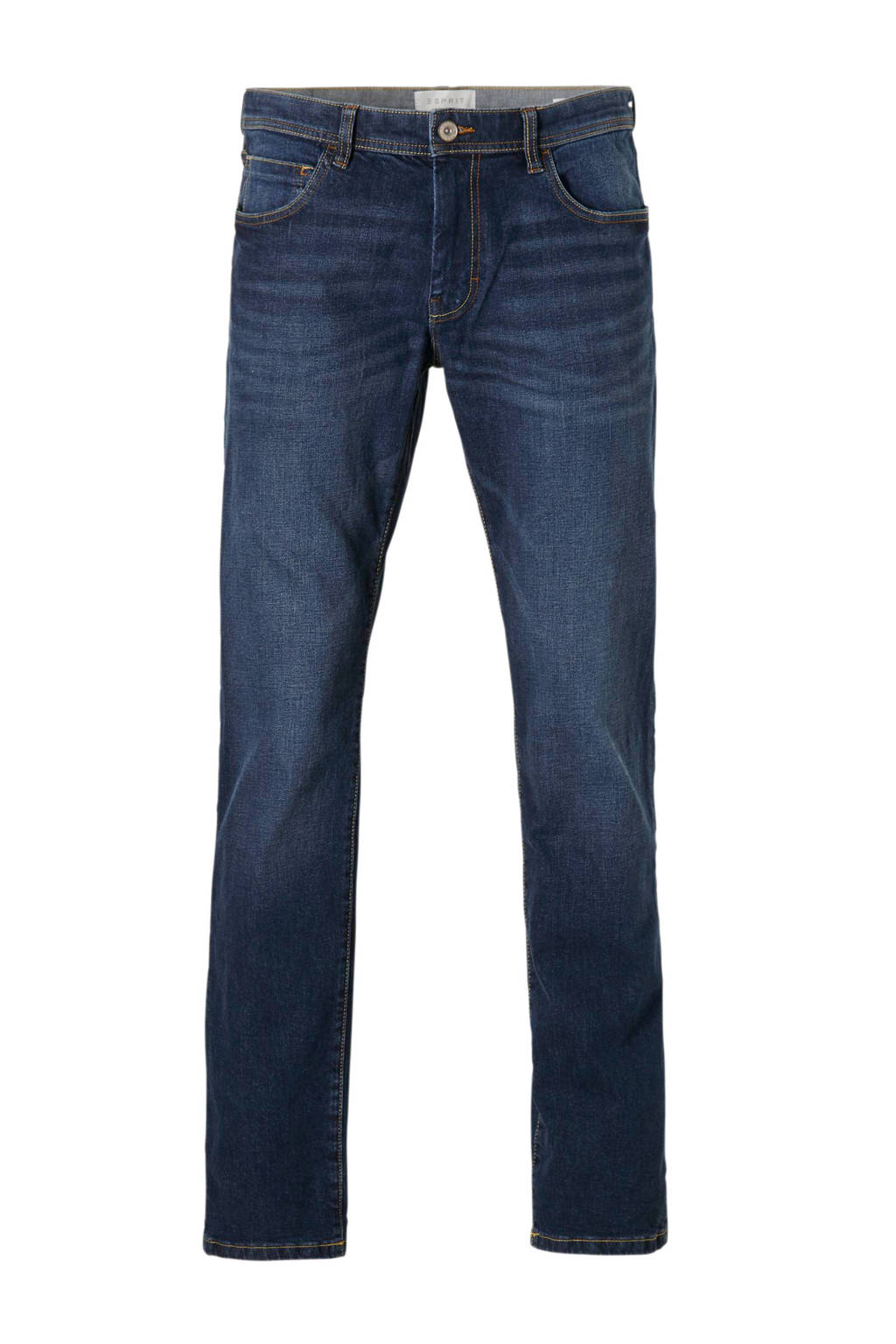 ESPRIT Men Casual straight fit jeans, Dark denim