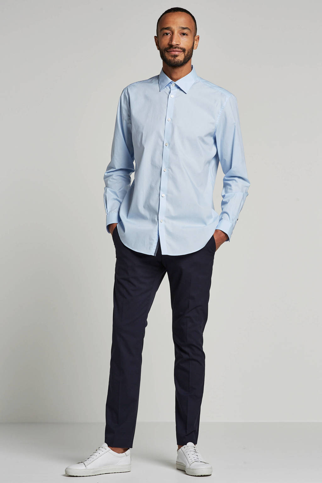 ESPRIT Men Collection slim fit overhemd, Lichtblauw