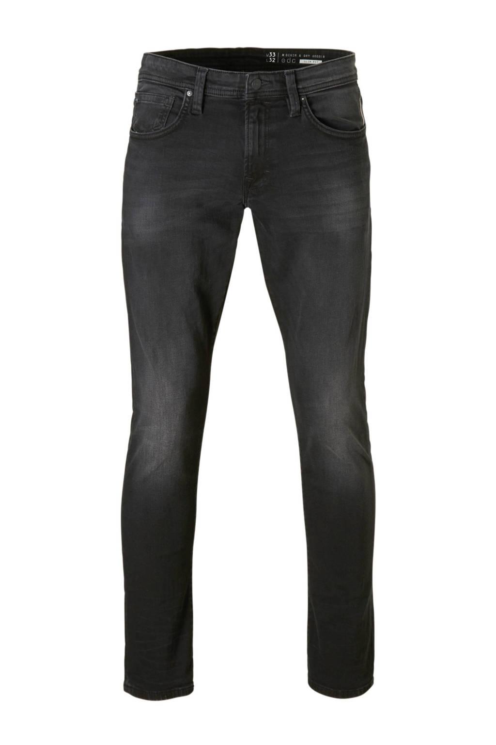 edc Men slim fit jeans, Zwart
