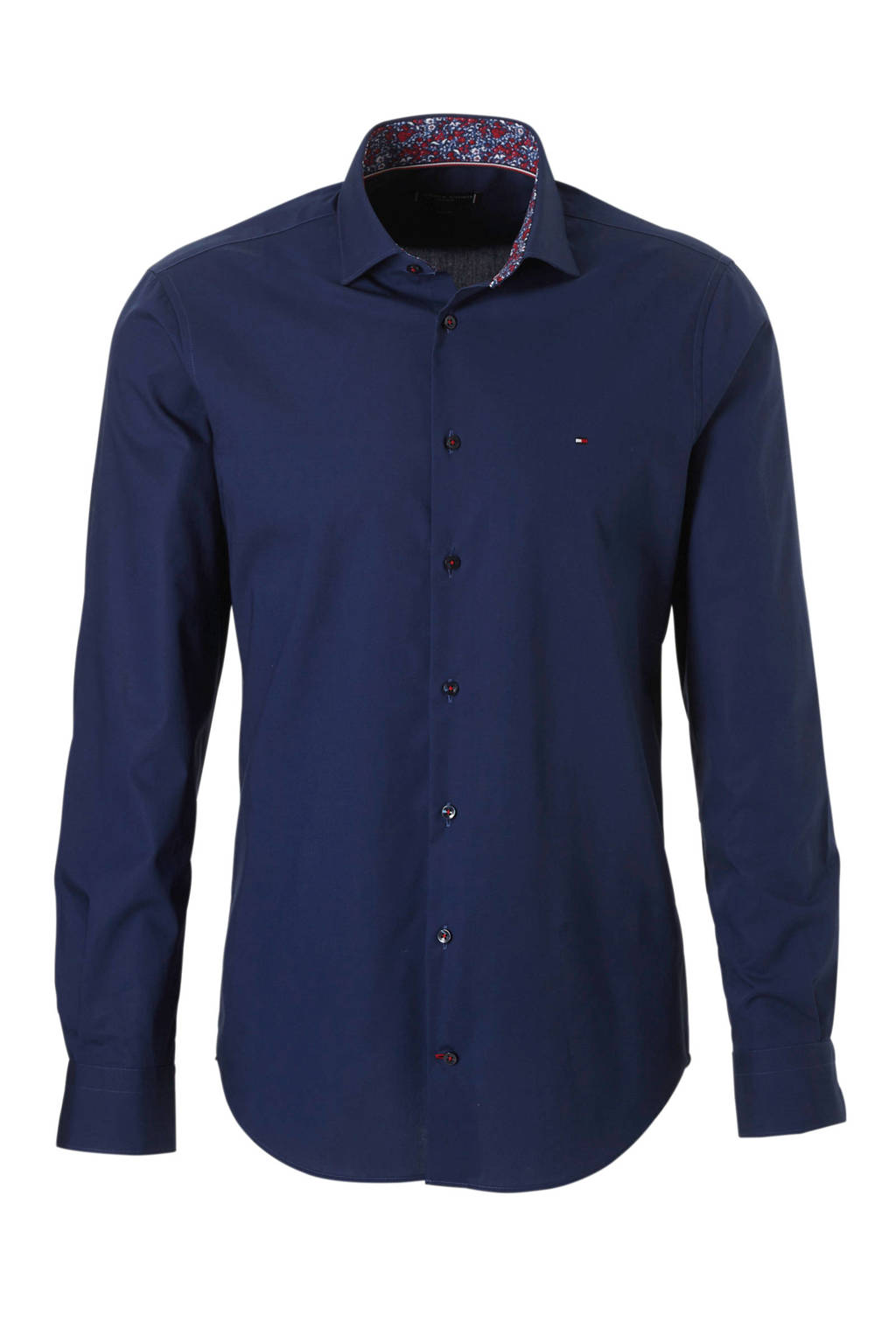 Tommy Hilfiger Tailored slim fit overhemd, Donkerblauw