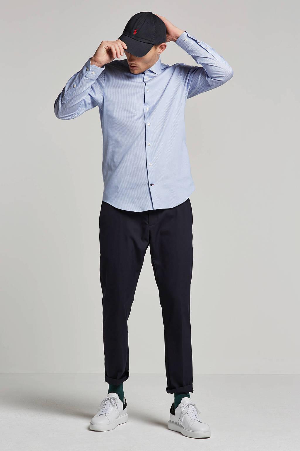 Tommy Hilfiger Tailored overhemd, Wit/blauw