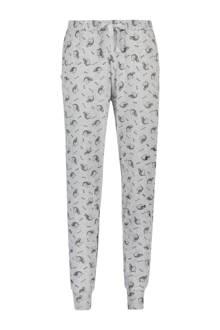 pyjamabroek met all over print grijs mêlee