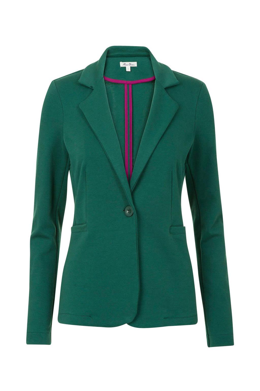 Miss Etam Lang blazer groen, Groen