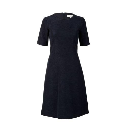 A-lijn jurk met structuur marine