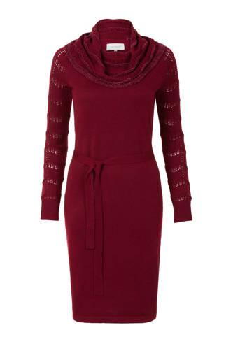 jurk met wijde colkraag rood