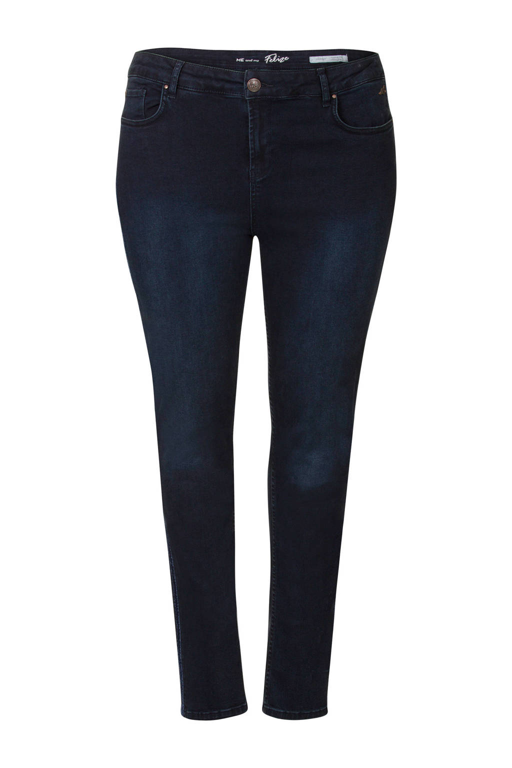 Miss Etam Plus skinny jeans donkerblauw, Donkerblauw