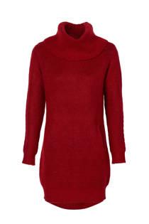 Mart Visser lange trui met wol donkerrood (dames)